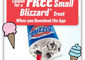 FREE Blizzard Treat with the Dairy Queen App!