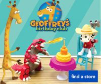"""1/21: FREE Geoffrey Goodies @ Toys""""R""""Us from 3-4pm!"""