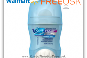 Walmart Freeosk—Free Secret Outlast Deodorant