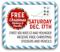 12/17: Kmart Freebie Saturday—Christmas Stickers & Pencils