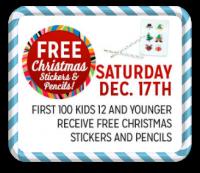 12/17: Kmart Freebie Saturday—Christmas Stickers & Pencils