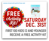 12/31: Kmart Freebie Saturday ~ Free Activity Kit!