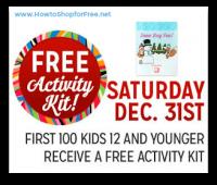 12/31: Kmart Freebie Saturday ~ Free Activity Kit!