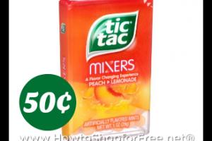 50¢ Tic Tac Mixers @ Publix, through Jan. 27th