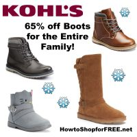 At Least 65% off Winter Boots for the Family at Kohl's