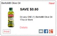 $0.60 off ONE Bertolli® Olive Oil 17oz+ *NEW*