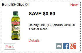 $0.60 off ONE Bertolli® Olive Oil 17oz+ *NEW*