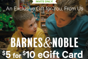 $5 for $10 Barnes & Noble eGC *Invite Only* Check Your Email!!