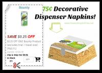 75¢ Bounty Decorative Dispenser Napkins @ Dollar Tree