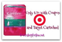 Carefree Panty liners only $.20 at Target with Coupon