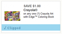 *Hot Coupon* $1.00/1 Crayola with Edge Coloring Book ~ Fun Gift Idea!