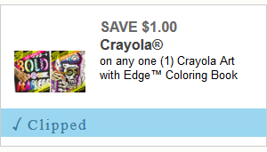 *Hot Coupon* $1.00/1 Crayola with Edge Coloring Book ~ Fun Gift Idea!