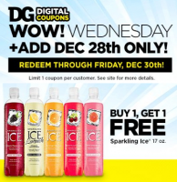 BOGO Sparkling Ice DG e-Coupon ~ Must Load Today!