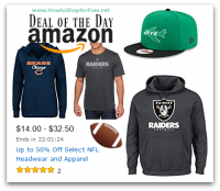 Up to 50% Off Select #NFL Headwear & Apparel—Deal of the Day