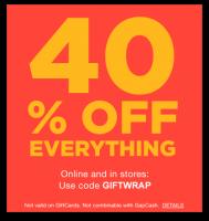 40% off Everything at GAP & GAP.com!