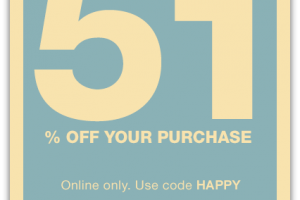 Today Only, 51% off Your GAP Purchase!