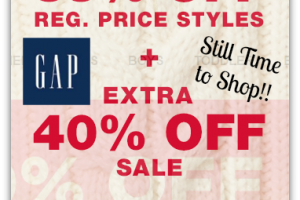 New GAP Online Savings ~ Today & Tomorrow Only!