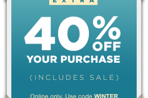 40% off Your GAP Purchase ~ Includes Sale Prices!!