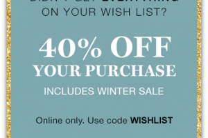 Didn't Get Everything on Your List? 40% off at GAP.com!