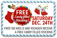 12/24 Kmart Freebie Saturday ~ Candy-Filled Stocking!!