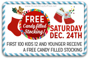 12/24 Kmart Freebie Saturday ~ Candy-Filled Stocking!!