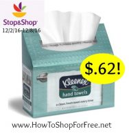 Whoa Kleenex Hand Towels only $.62 at Stop & Shop (12/2/16-12/8/16)
