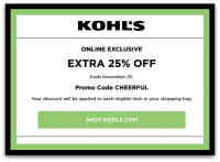 Extra 25% off Today Only at Kohls.com!