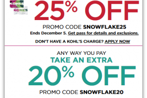 Save up to 25% at Kohl's, through 12/05!