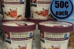 50¢ Quaker Medley Cups @ Dollar Tree with NEW Coupon!