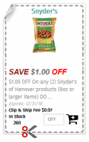.50 Snyder's Pretzels @ Dollar Tree ~ Daily Dimes Has Your Coupon!
