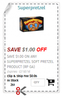 FREE SuperPretzels at Dollar Tree! Hurry & Order Coupons ASAP!