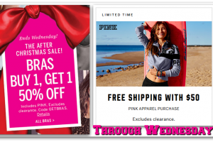 NEW VS Offers, thru 12/28 ~ BOGO 50% off Bras + FREE Shipping