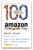 """""""Best of Warner Bros."""" Blu-ray/DVD, up to 88% OFF—Deal of the Day"""