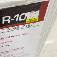 Tennis Table Yellow Tag Clearance at TJ Maxx