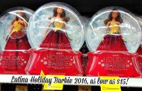 2016 Holiday Barbie Latina Doll as low as $15!!