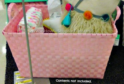 Woven Pink Storage Bin 85% OFF!!! Cute for Baby Gifts!! & 85% off Pink Basket | How to Shop For Free with Kathy Spencer