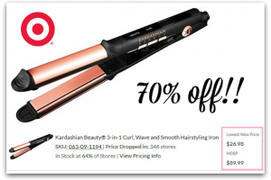 Kardashian 3-in-1 Curl/Wave/Smooth Iron 70% OFF at Target!!