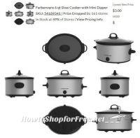 $3.00 Farberware 6qt Slow Cooker with Mini Dipper!!!
