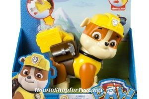 $.60 Paw Patrol, Jumbo Action Pup (Rubble) Glitch?! GO GO GO!