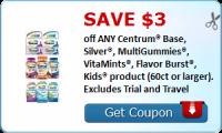 Print This High Value $3/1 Centrum Vitamins Coupon
