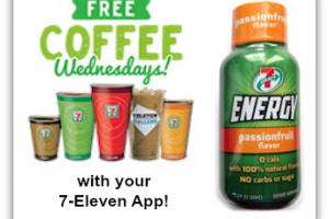 FREE Coffee & Energy Shot with 7-Eleven App!