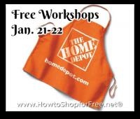 Free Home Depot DIY Workshops This Weekend!!