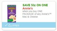 $0.50 off one Annies Mac and Cheese ~ ICYMI, Print ASAP!