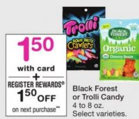 FREE Black Forest Gummies or Trolli Candy at Walgreen's Through 01/14!