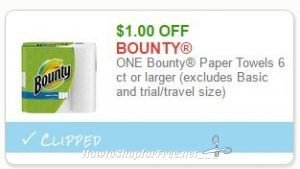 image relating to Bounty Printable Coupons titled Clean Printable Coupon**$1.00 off 1 Bounty Paper Towels