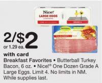 Butterball Turkey Bacon .45 at Walgreen's Through 01/14!