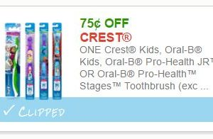 $0.75 off one Crest Toothbrush *Hot Doubler, #ICYMI!!*