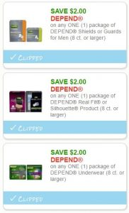 image relating to Depends Printable Coupons known as Fresh Printable Discount codes** 4 Count Coupon codes Pre-Clipped for