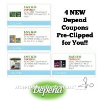 **NEW Printable Coupons** Four Depend Coupons Pre-Clipped for You!!