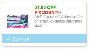 image relating to Fixodent Coupons Printable called Refreshing Printable Coupon** $1.00 off a person Fixodent Adhesive How